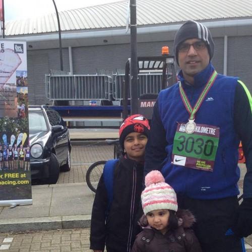 Faraz UlHaq runs 10K for IKCA